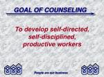 goal of counseling