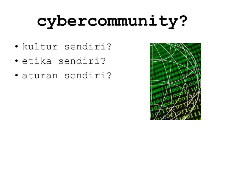 cybercommunity?