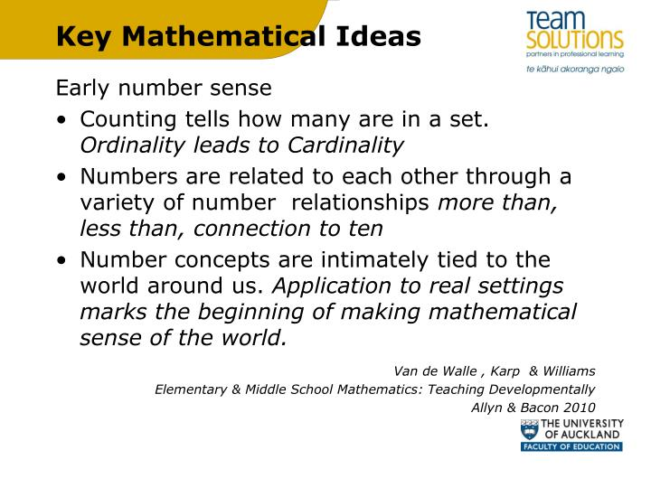 Key mathematical ideas