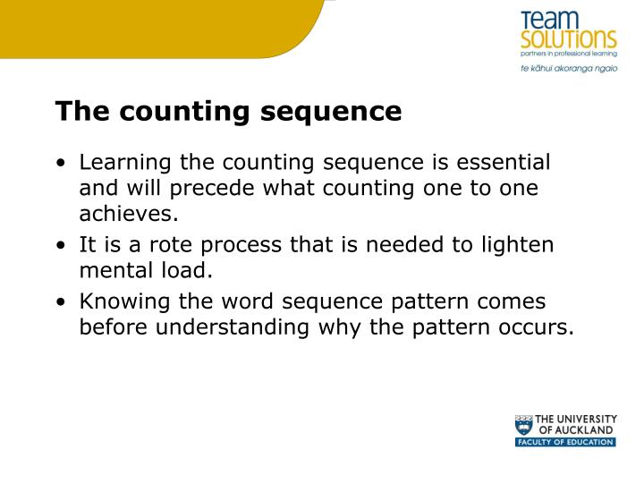 The counting sequence
