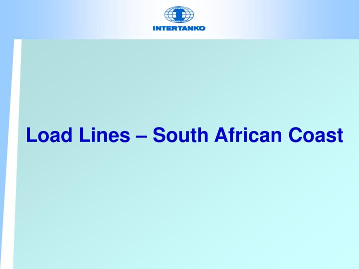 Load Lines – South African Coast