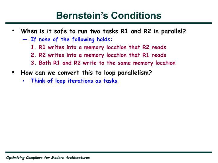 Bernstein's Conditions