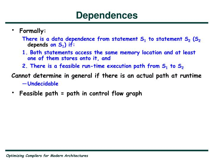 Dependences