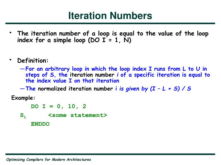 Iteration Numbers