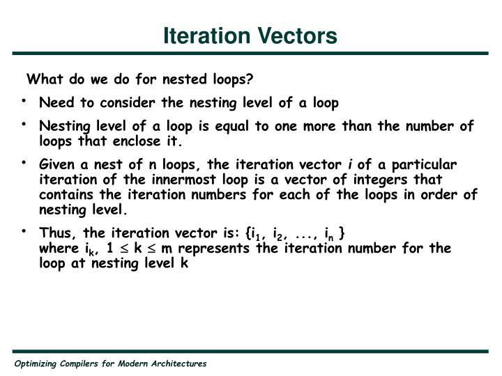 Iteration Vectors