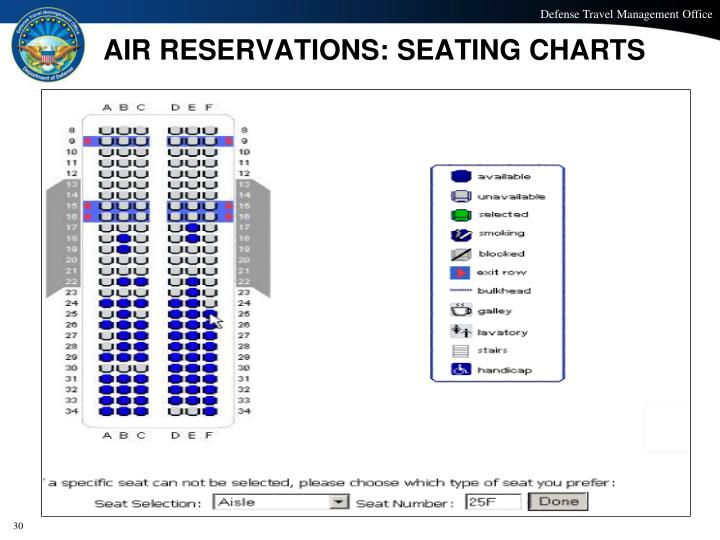 AIR RESERVATIONS: SEATING CHARTS