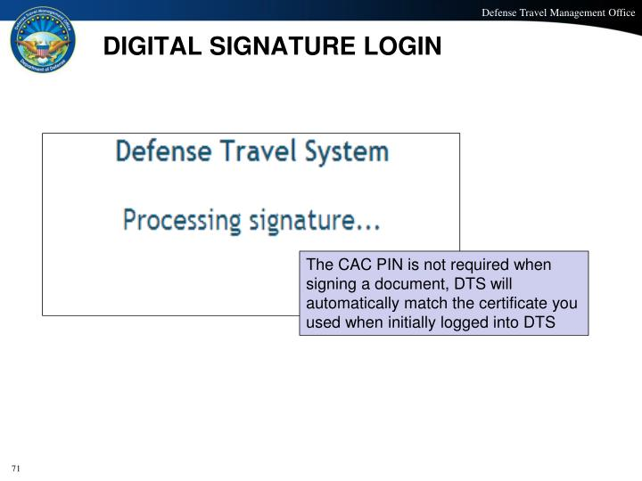 DIGITAL SIGNATURE LOGIN