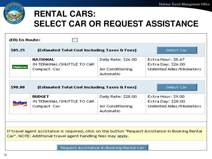 RENTAL CARS: