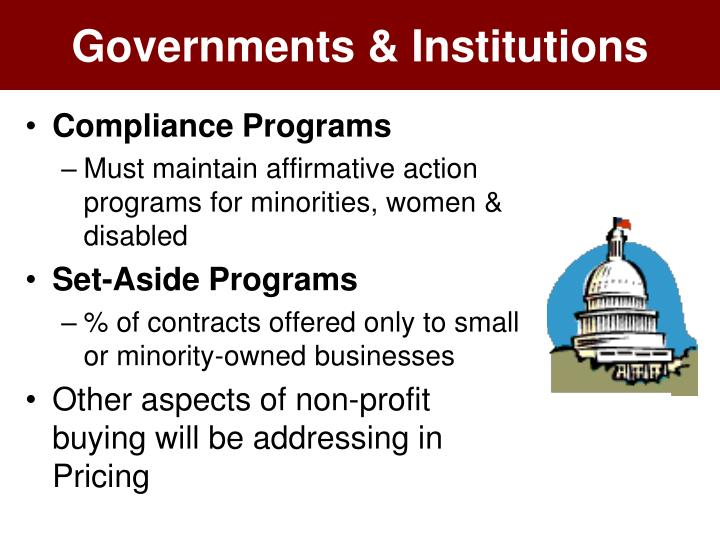 Governments & Institutions