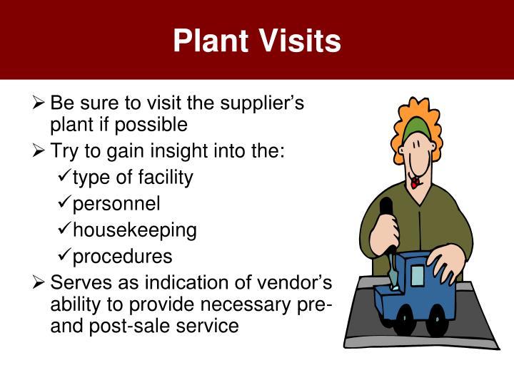 Plant Visits