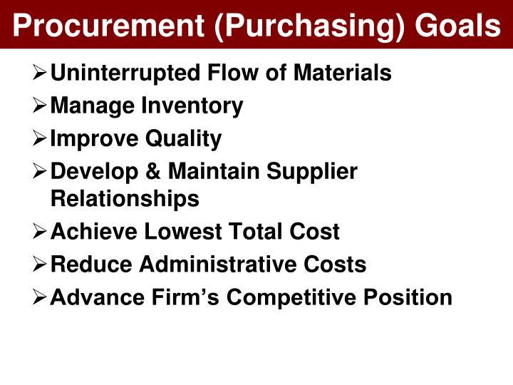 Procurement (Purchasing) Goals