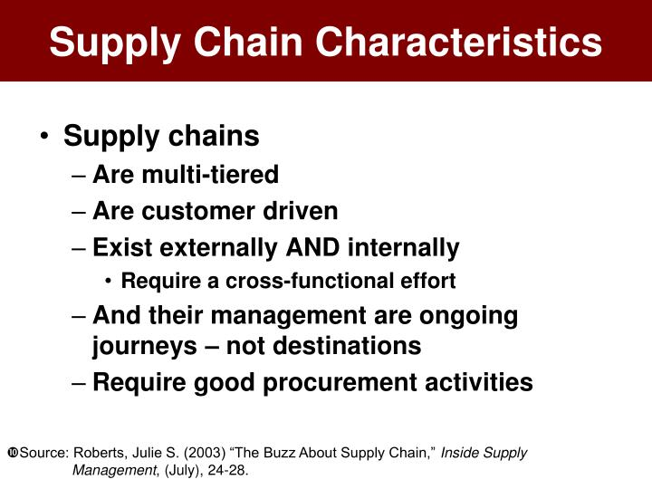 Supply Chain Characteristics