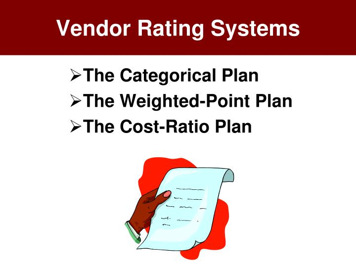 Vendor Rating Systems
