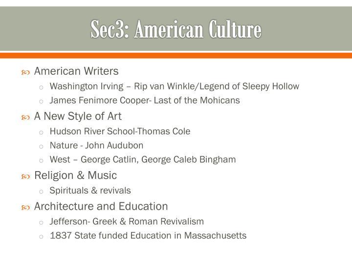 Sec3: American Culture