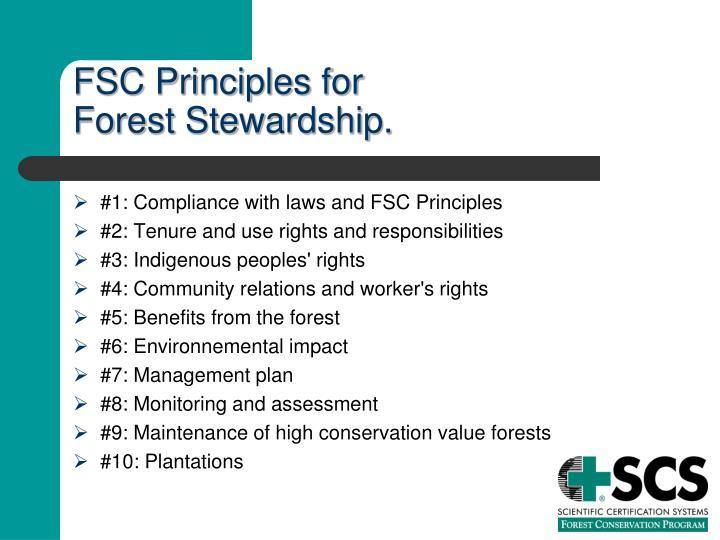 FSC Principles for
