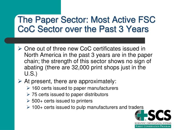 The Paper Sector: Most Active FSC CoC Sector over the Past 3 Years