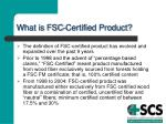 what is fsc certified product
