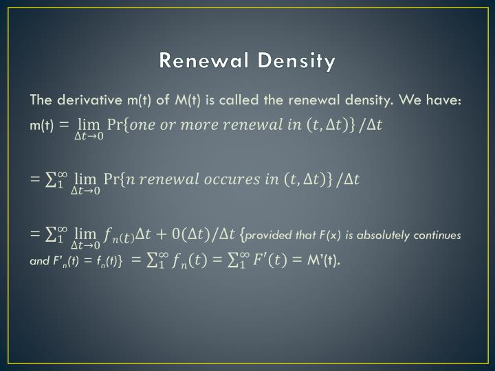 Renewal Density