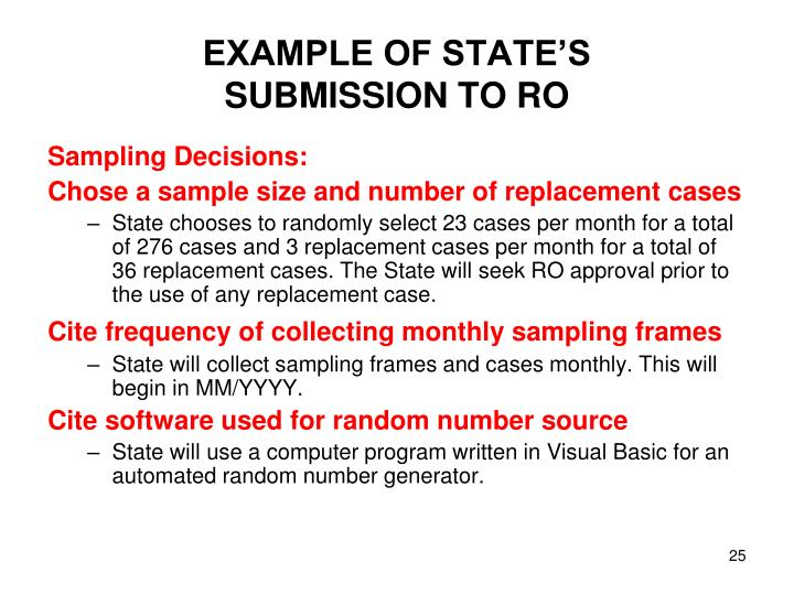 EXAMPLE OF STATE'S