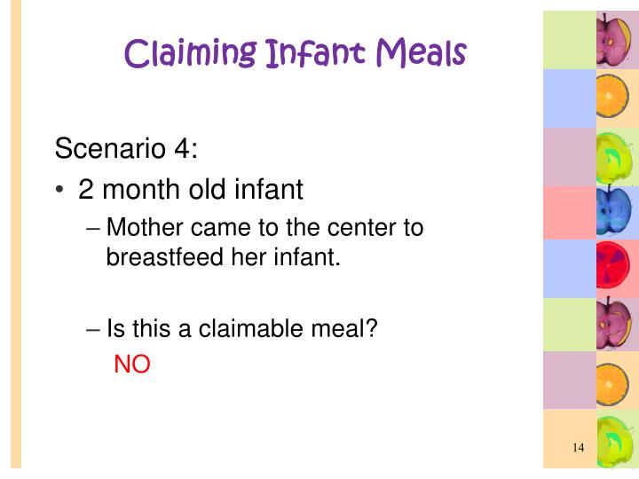 Claiming Infant Meals