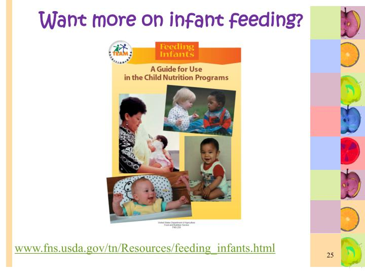 Want more on infant feeding?