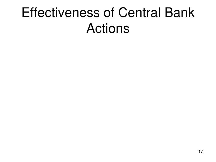 Effectiveness of Central Bank Actions
