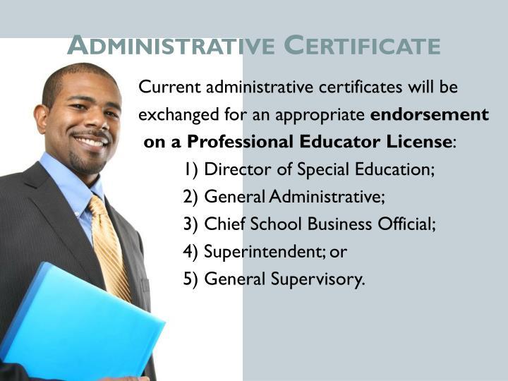 Administrative Certificate