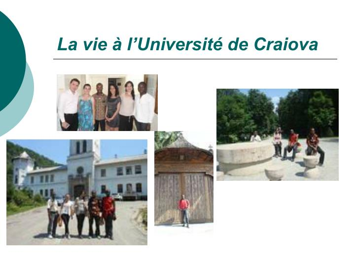 La vie à l'Université de Craiova