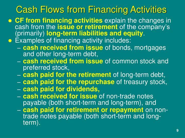 CF from financing activities