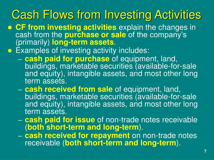 CF from investing activities