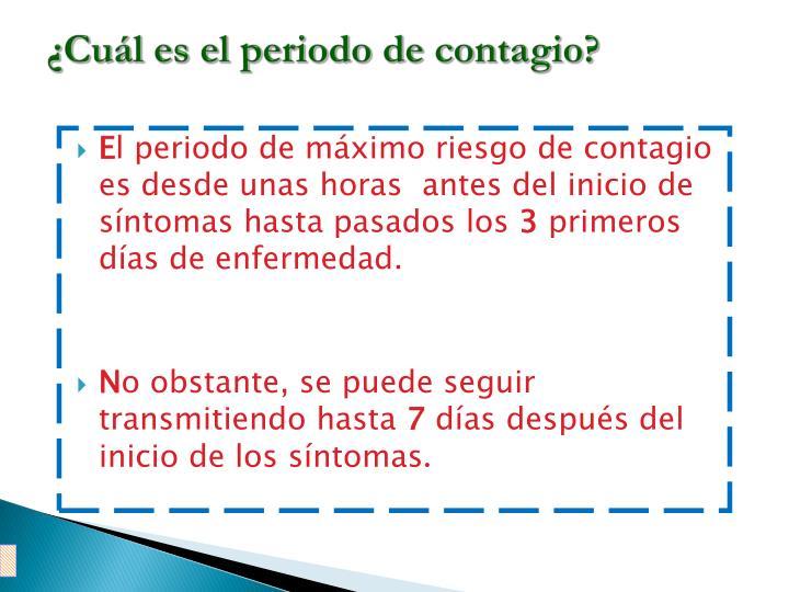 ¿Cuál es el periodo de contagio?