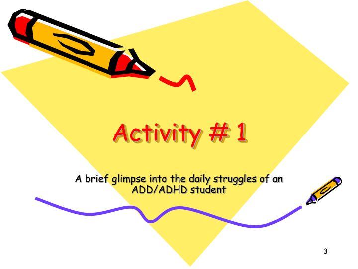 Activity # 1