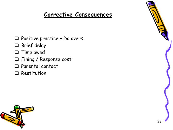 Corrective Consequences
