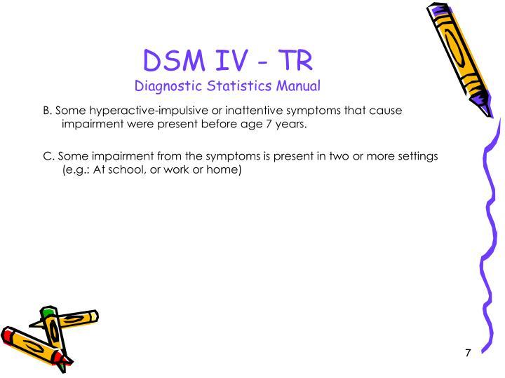 DSM IV - TR