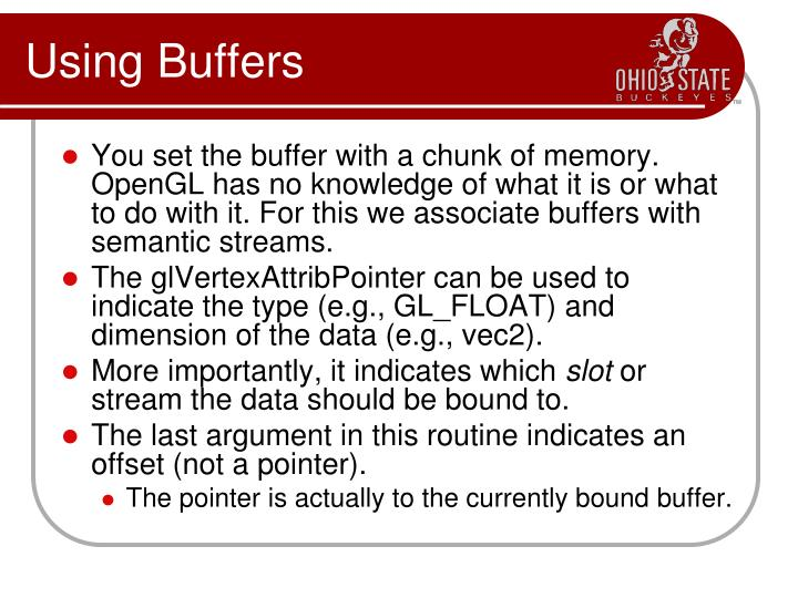 Using Buffers
