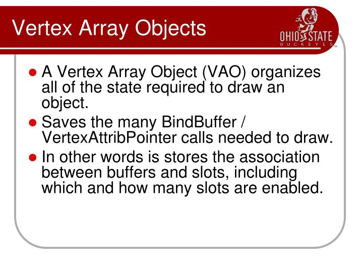 Vertex Array Objects