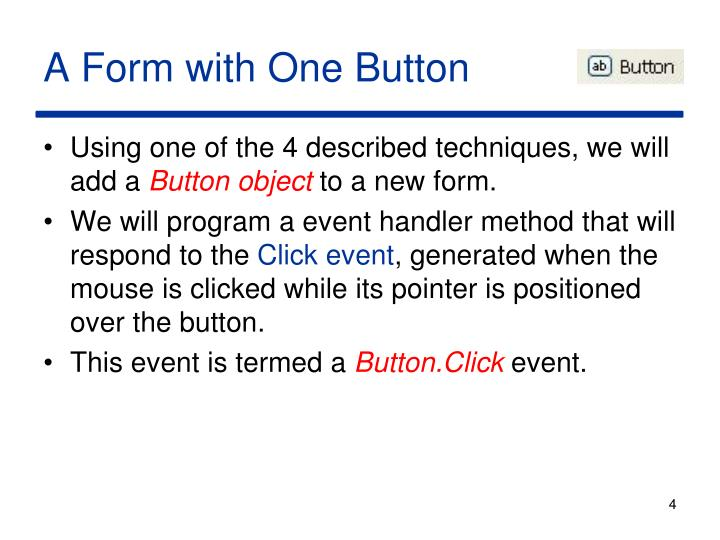 A Form with One Button