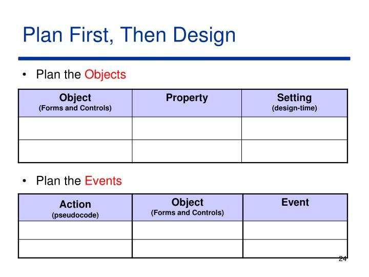 Plan First, Then Design