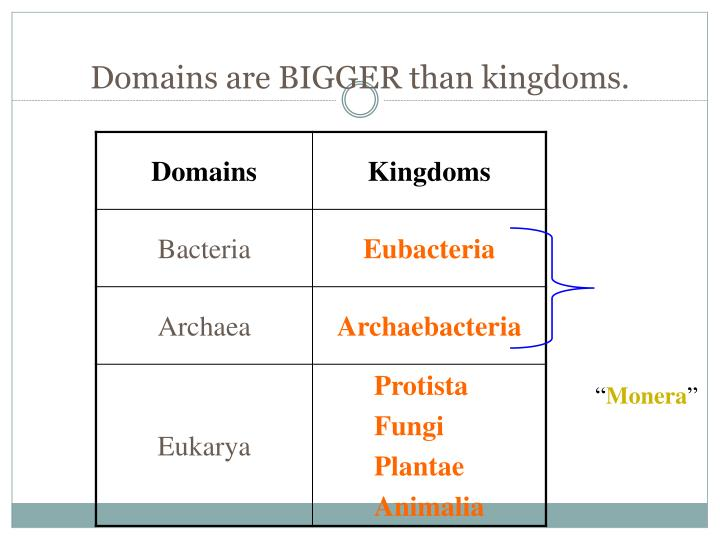 Some scientists use a 3 domain system.