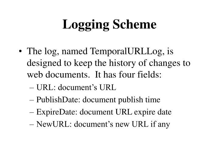 Logging Scheme