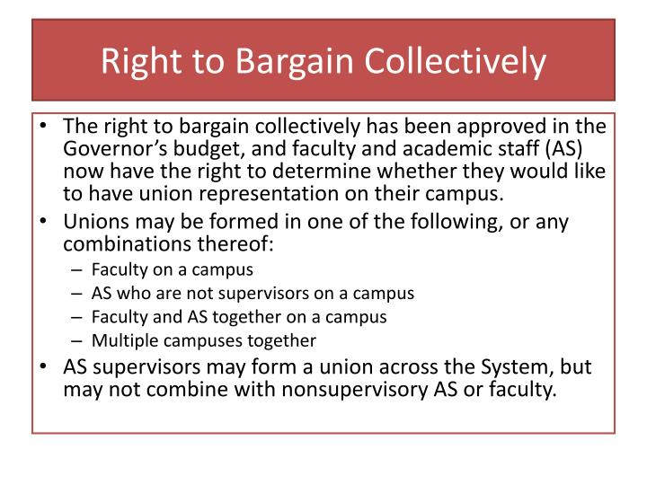 Right to bargain collectively