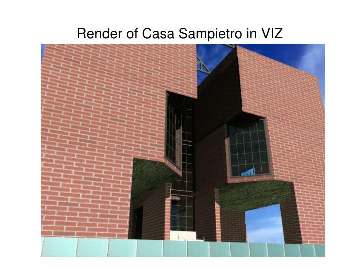 Render of Casa Sampietro in VIZ