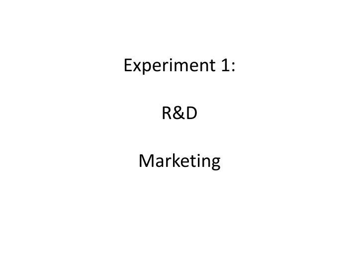 Experiment 1: