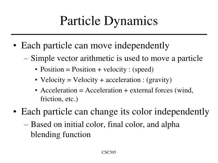 Particle Dynamics