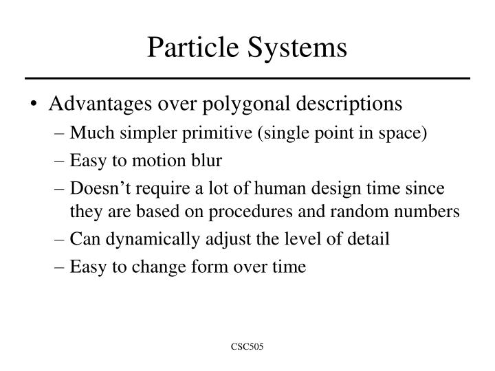 Particle Systems