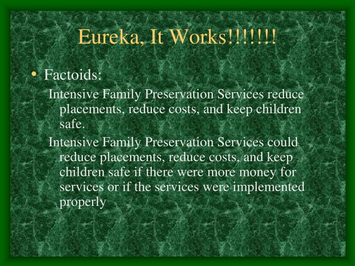 Eureka, It Works!!!!!!!