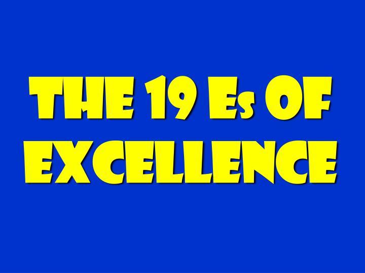 The 19 E