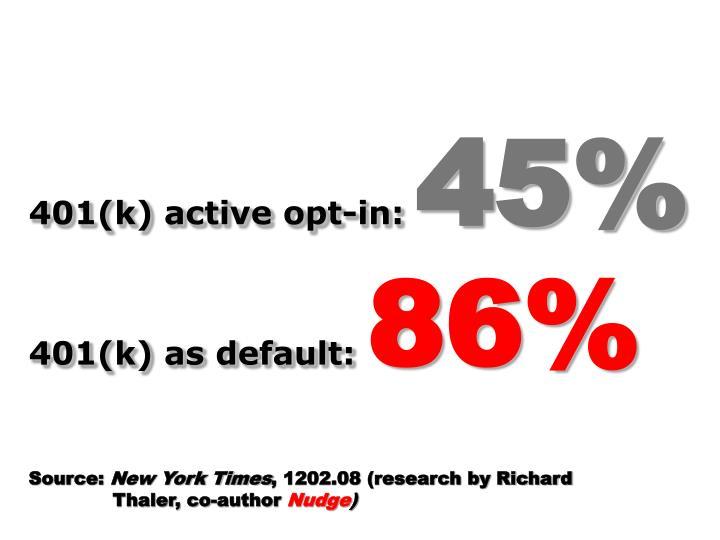 401(k) active opt-in: