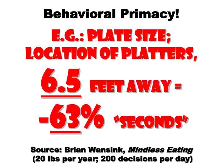 Behavioral Primacy!