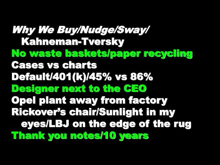 Why We Buy/Nudge/Sway/